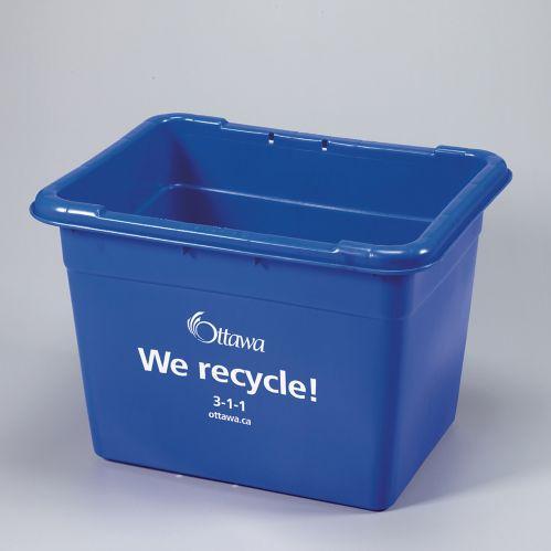 Bac de recyclage pour la ville d'Ottawa, 16 gallons Image de l'article