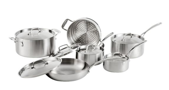 Lagostina 3-Ply Commercial Clad Cookware Set, 12-pc Product image