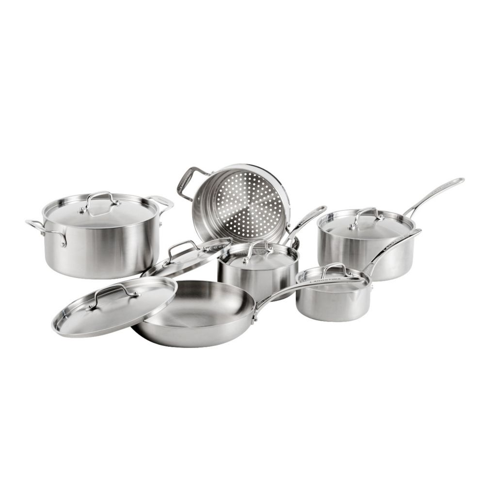 Lagostina 3-Ply Commercial Clad Cookware Set, 12-pc
