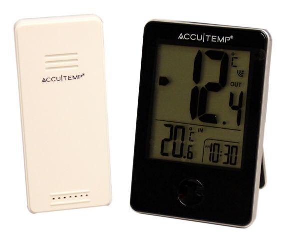 Thermomètre sans fil avec horloge