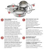Batterie de cuisine KitchenAid en inox plaqué, 11 pièces | KitchenAidnull