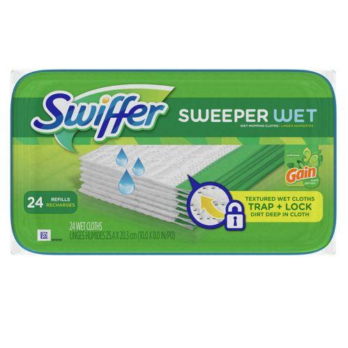 Swiffer Sweeper Wet Refill, Gain, 24-pk