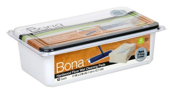 Tampons de nettoyage Bona pour plancher de bois, paq. 12