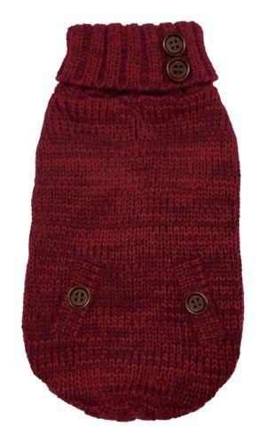 PAWS UP! Cable Knit Turtleneck Dog Sweater, Medium Product image