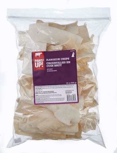 PAWS UP! Rawhide Chips Dog Treats, 2-lb Product image