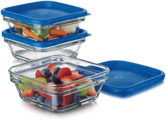Libbey 3-Cup Glass Storage Set, 6-pc