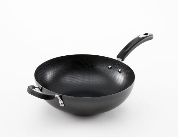 Lagostina Carbon Steel Wok, 12-in