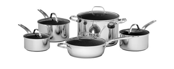 Rock Stainless Steel Cookware Set, 10-pc