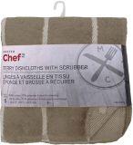 Linges à vaisselle MASTER Chef en jersey bouclette avec tampon à récurer, champignon, paq. 6 | Master Chefnull