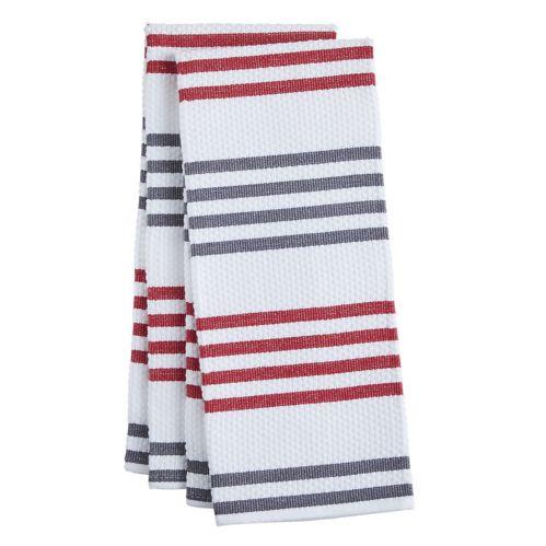 PADERNO Basketweave Kitchen Towel, Red, 2-pk