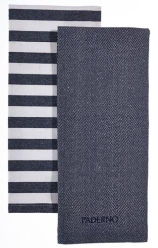 PADERNO Yarn-Dyed Kitchen Towel, Navy, 2-pk Product image