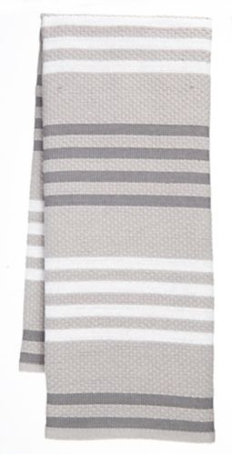 PADERNO Basketweave Kitchen Towel, Light Grey, 2-pk