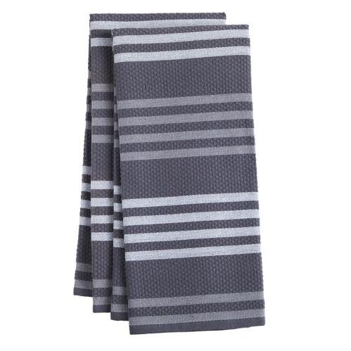 PADERNO Basketweave Kitchen Towel, Charcoal, 2-pk Product image