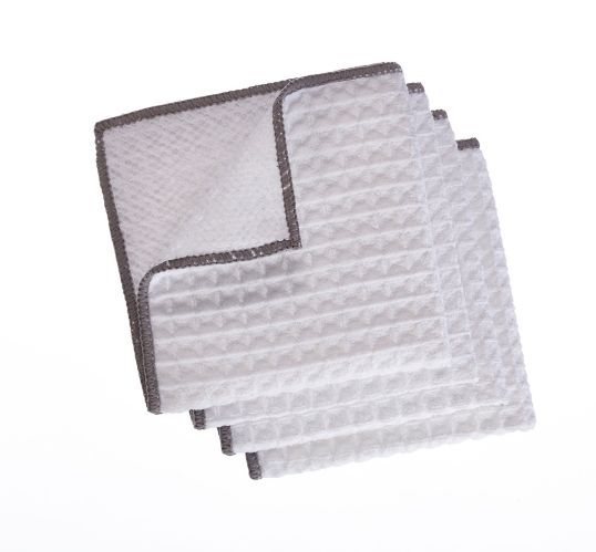 PADERNO Microfiber Dishcloth with Scrubber, Light Grey, 4-pk Product image