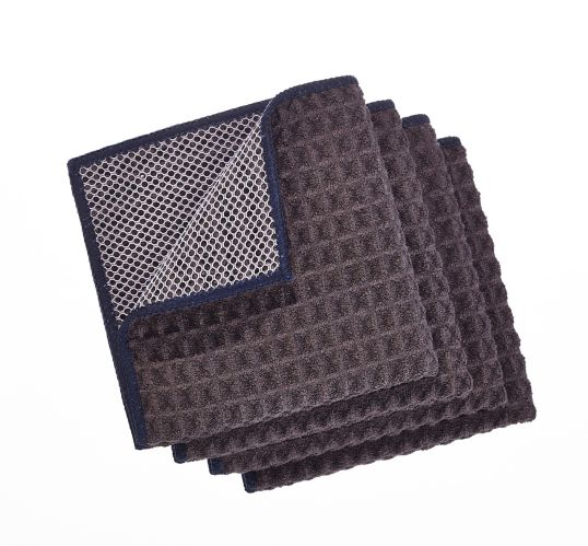 PADERNO Microfiber Dishcloth with Scrubber, Charcoal, 4-pk Product image