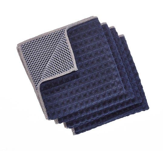 Linge à vaisselle PADERNO microfibre, tampon, bleu marine, paq. 4 Image de l'article