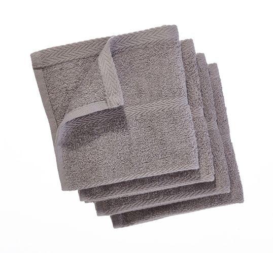 PADERNO Terry Dishcloths, Light Grey, 4-pk