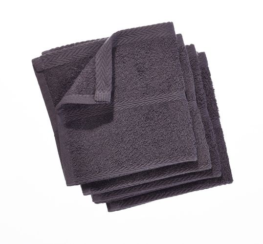 PADERNO Terry Dishcloths, Charcoal, 4-pk