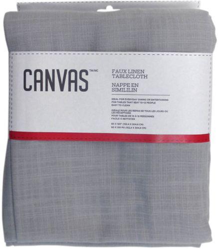 Nappe en faux lin CANVAS, gris pâle, 60 x 120 po Image de l'article