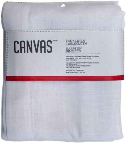 Nappe en simili-lin CANVAS, blanc, 60 x 102 po Image de l'article