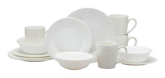 MASTER Chef Round Glass Dinnerware Set, White, 16-pc Product image