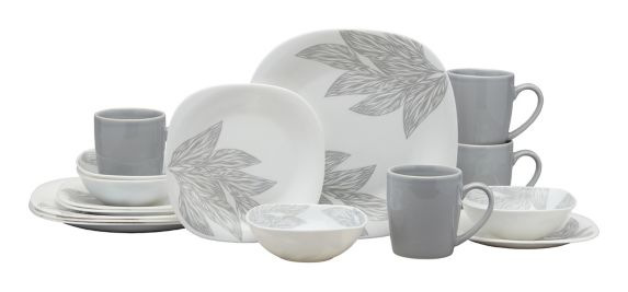 MASTER Chef Square Glass Dinnerware Set, Leaf, 16-pc Product image