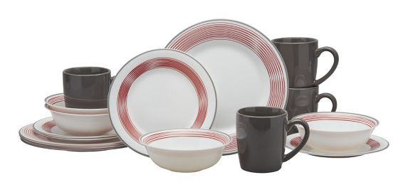 Service de vaisselle en verre rond MASTER Chef, lignes, 16 pces Image de l'article