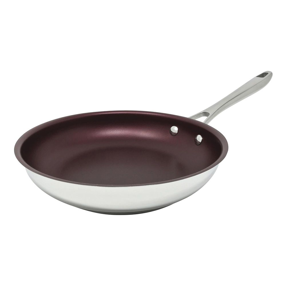 Paderno Canadian Signature Stainless Steel Non-Stick Fry Pan, 24-cm