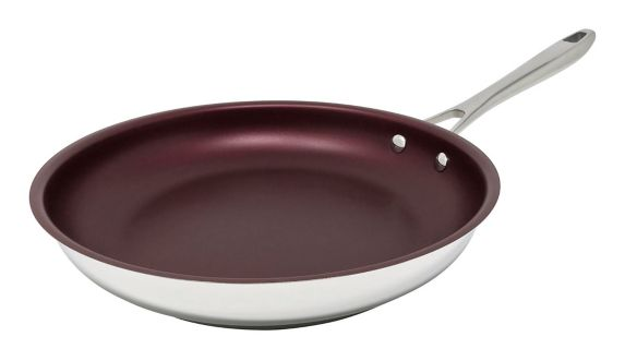 PADERNO Canadian Signature Stainless Steel Non-Stick Fry Pan, 28-cm