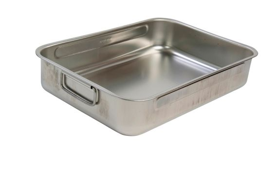 PADERNO Made in Italy Stainless Steel Roaster, 14.25-in x 10.75-in