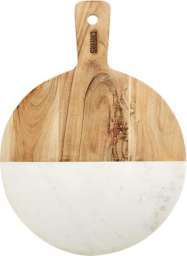 CANVAS Round Marble & Acacia Wood Board, 15 x 11-in Product image