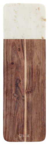 Planche en marbre et bois d'acacia CANVAS, 16 x 5 po Image de l'article
