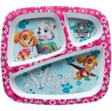 Paw Patrol 3-Section Plate, Pink | Zak Designsnull