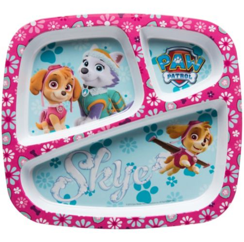Paw Patrol 3-Section Plate, Pink