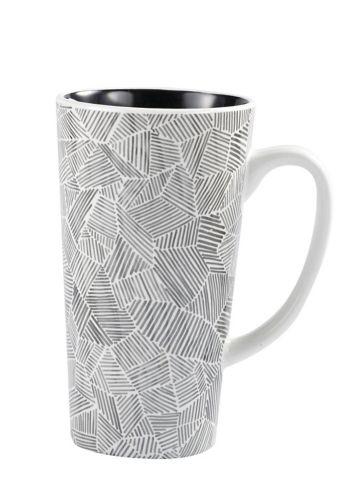 CANVAS Gray Pattern Mug, 15-oz
