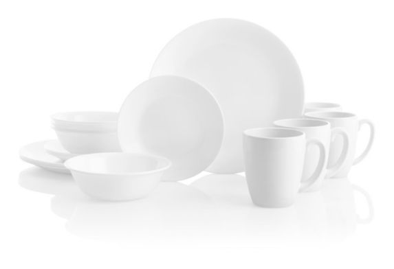 Corelle Winter Frost White Dinnerware Set, 16-pc Product image