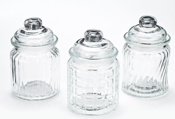 Mini Glass Canister, 3-pc
