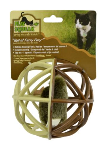 Play N Squeak Ball of Furry Fury Cat Toy Product image