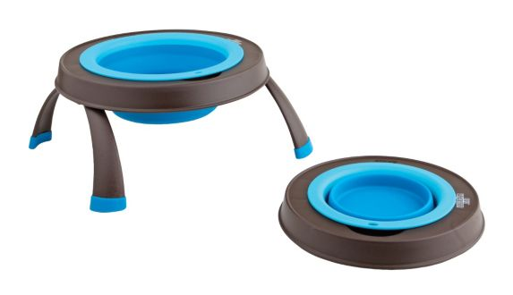 Cesar Millan Small Elevated Dog Bowl, Blue