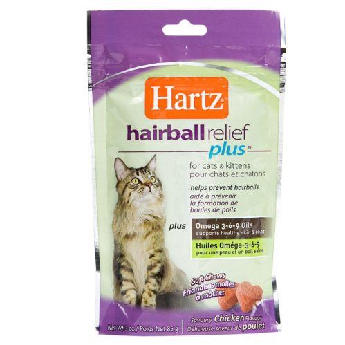 Traitement Hartz Hairball Remedy Plus, bouchées tendres