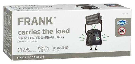 Sacs à ordures parfumés à la menthe FRANK Mint-X, paq. 20 Image de l'article