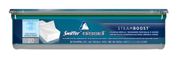 Swiffer Bissell Steamboost Refill, Open Window Scent