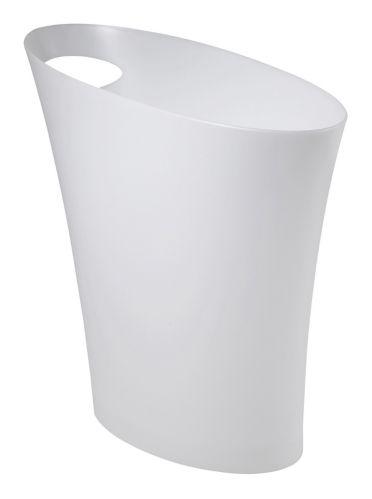 Poubelle à profil étroit Umbra Loft, blanc, 7,5 L
