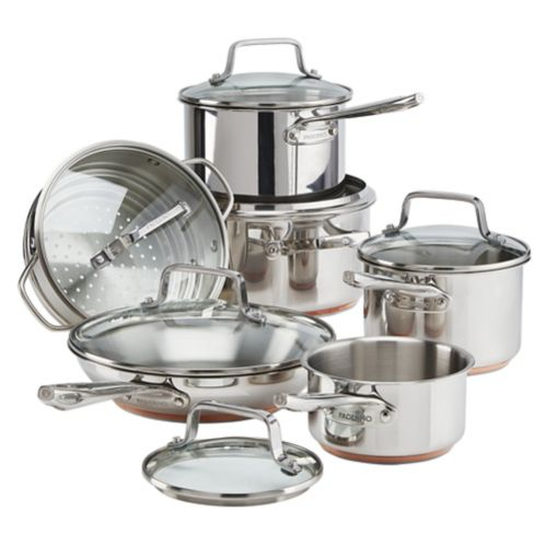 PADERNO Copper Core Stainless Steel Cookset, 12-pc Product image