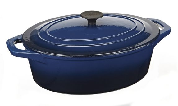 MASTER Chef Oval Dutch Oven, Blue