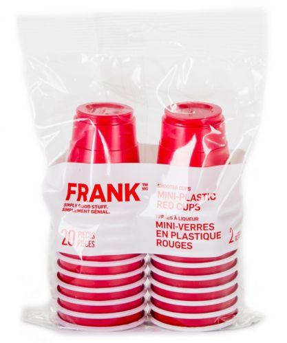 FRANK Mini-Plastic Cups, 20-pk