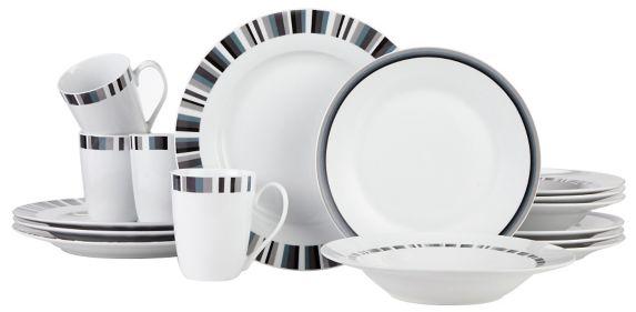 Service de vaisselle en porcelaine CANVAS Tristan Mosaic, 16 pièces Image de l'article
