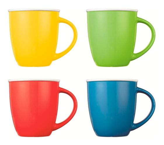CANVAS Easton Mug Set, Assorted Brights, 4-pc Product image