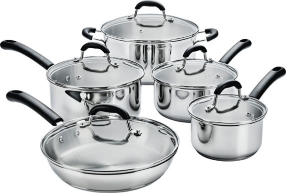 MASTER Chef Stainless Steel Cookware Set, 10-pc Product image