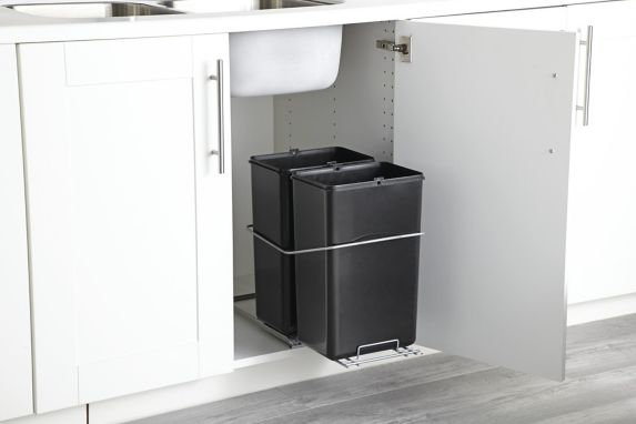type A Double Pull-Out Waste Bin, 30-L Product image